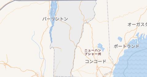 バーモント州地図