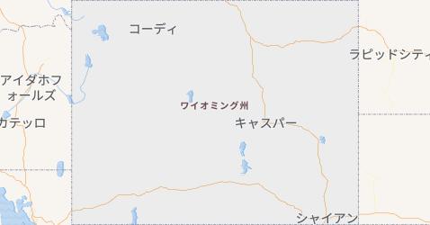 ワイオミング州地図