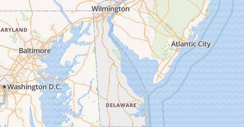 Delaware kaart