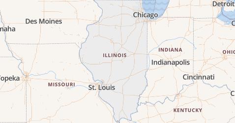 Illinois kaart