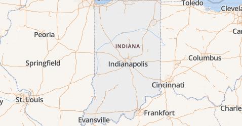 Indiana kaart