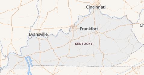 Kentucky kaart