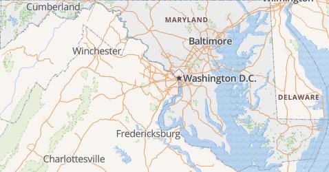 Maryland kaart