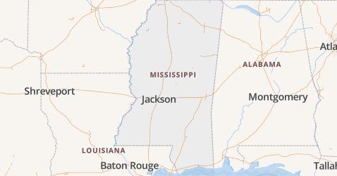 Mississippi kaart