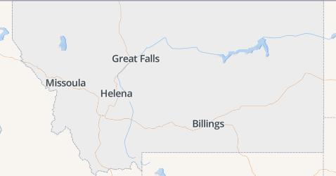 Montana kaart