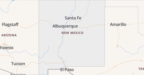 New Mexico kaart