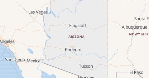 Arizona - szczegółowa mapa