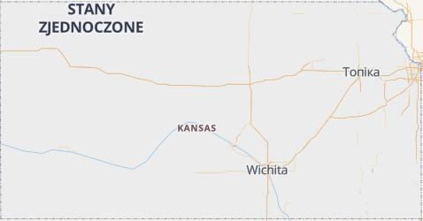 Kansas - szczegółowa mapa