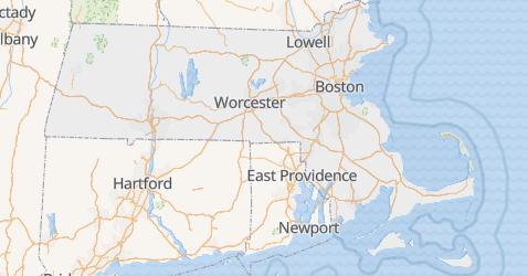 Massachusetts - szczegółowa mapa