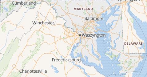 Maryland - szczegółowa mapa