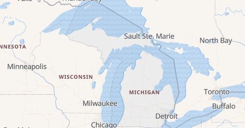 Michigan - szczegółowa mapa