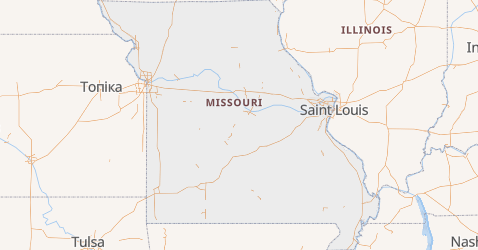 Missouri - szczegółowa mapa