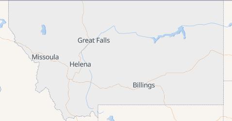 Montana - szczegółowa mapa