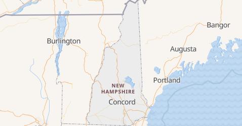 New Hampshire - szczegółowa mapa