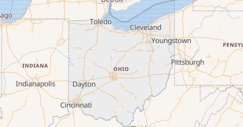 Ohio - szczegółowa mapa