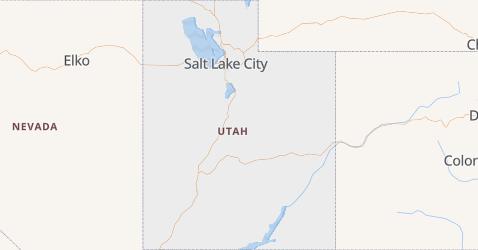 Utah - szczegółowa mapa