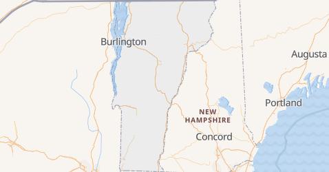 Vermont - szczegółowa mapa