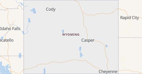 Wyoming - szczegółowa mapa