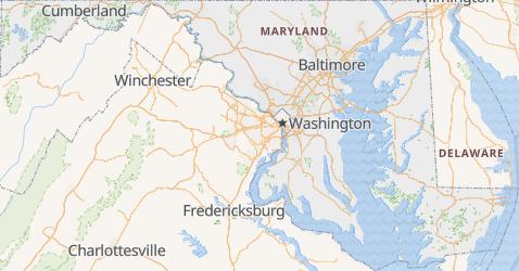Mapa de Maryland