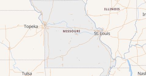 Mapa de Missúri