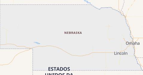 Mapa de Nebrasca