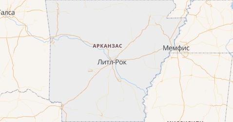 Арканзас - карта