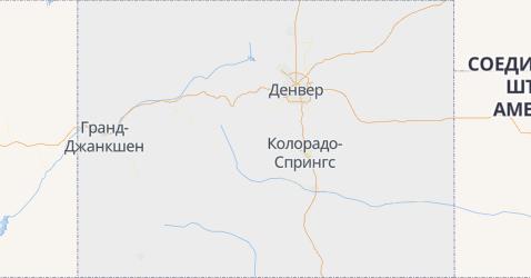 Колорадо - карта