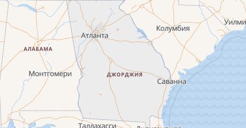 Джорджия - карта