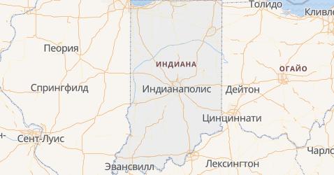 Индиана - карта