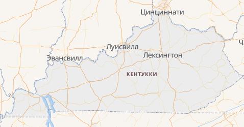 Кентукки - карта