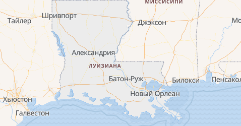 Луизиана - карта