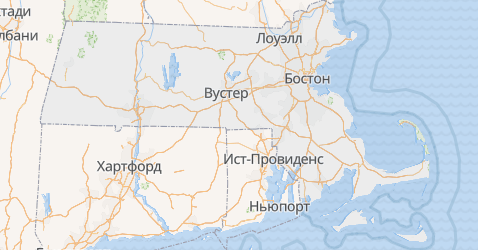 Массачусетс - карта
