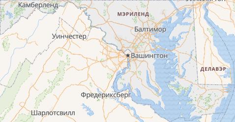 Мэриленд - карта