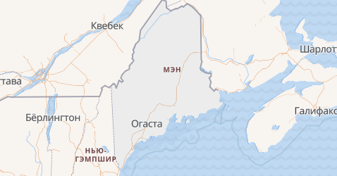 Мэн - карта