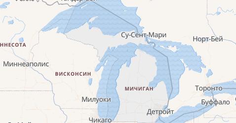Мичиган - карта