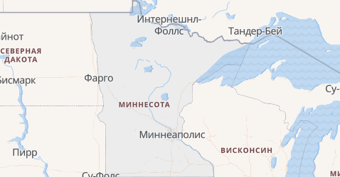 Миннесота - карта