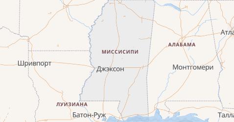 Миссисипи - карта