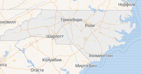 Северная Каролина - карта