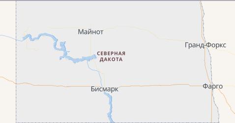 Северная Дакота - карта