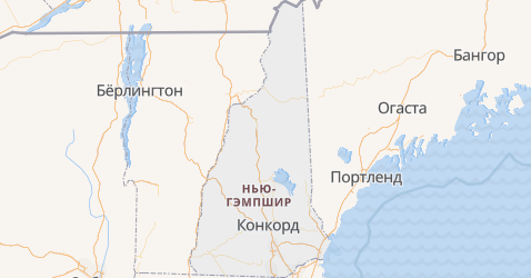 Нью-Гэмпшир - карта