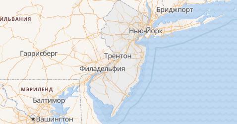 Нью-Джерси - карта