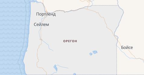Орегон - карта