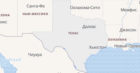 Техас - карта