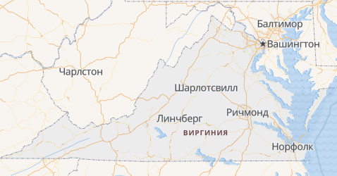 Виргиния - карта