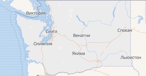 Вашингтон - карта