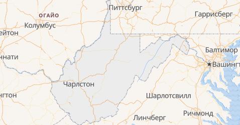 Западная Виргиния - карта