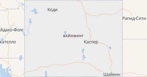 Вайоминг - карта
