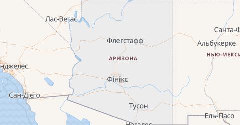 Аризона - мапа