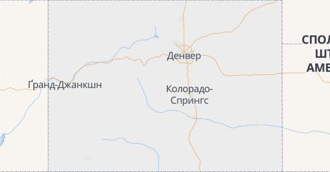 Колорадо - мапа