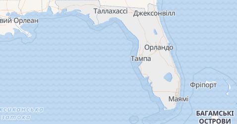 Флорида - мапа
